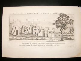 Buck C1820 Folio Architecture Print. Easby Abbey, near Richmond, Yorkshire